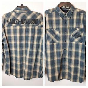 Men's XL Harley Davidson Plaid Flannel Shirt